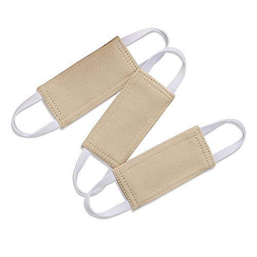 Nursery Door Latch Cover Silencer - Door Closer Jammer Cushion for Baby Good Sleep Ready Made Universal Door Knob Latch Silence Cover for Quiet, W 4 x L 2 inches, Pack-3, Biscotti Beige (Ready Made Cushions)