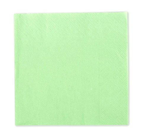 Cocktail Napkins - 200-Pack Disposable Paper Napkins, 2-Ply, Mint Green, 5 x 5 Inches Folded