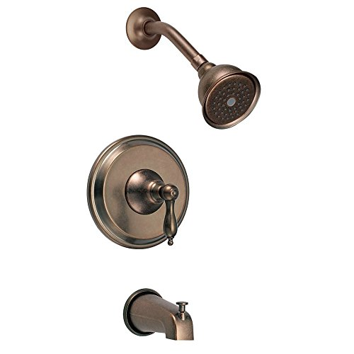 Distressed Bronze Tub - Danze D510040RBDT Fairmont Tub and Shower Trim Kit, Distressed Bronze, Valve Not Included