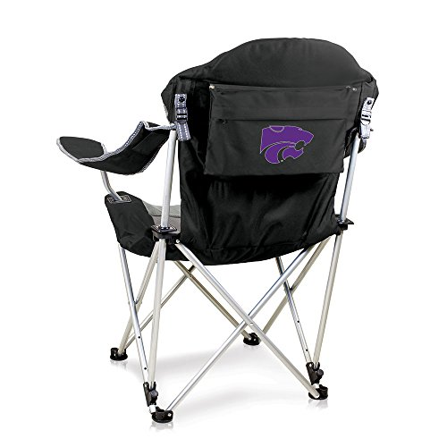 NCAA Kansas State Wildcats Reclining Camp Chair, Black