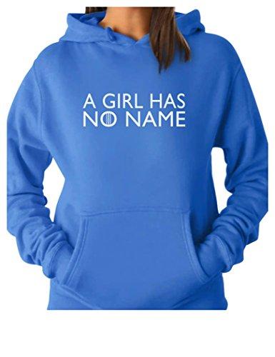 (TeeStars - A Girl Has No Name Women Hoodie Medium California Blue)