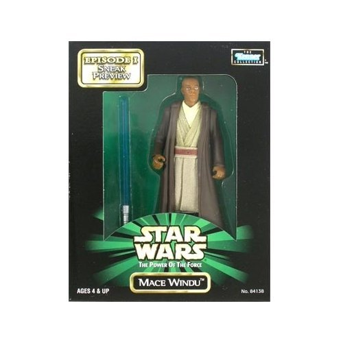 (Sneak Preview Mace Windu Star Wars: The Power of the Force Episode I Mail Away 4 inch Action Figure)