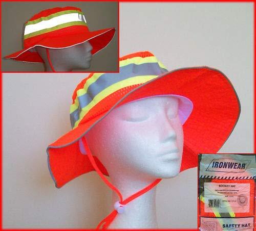 Ironwear 1271-O Booney Hat with Adjustable Neck Strap, LG/XL, Orange (100) by Ironwear (Image #5)