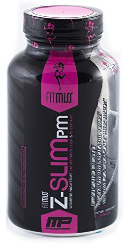 Fitmiss Z Slim PM, Women's Nighttime Weight Loss Capsule Promotes Healthy Sleep Patterns, Metabolism Booster & Weight Loss Supplement, 60 Count, 30 Servings
