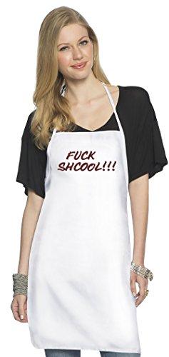 Fxxk shcool Top Quality Chefâ€s Apron  Custom Printed  Av
