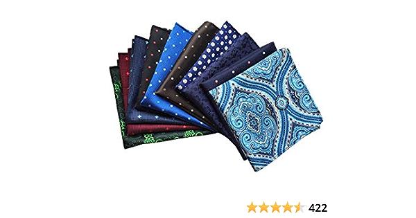 T9Y2 Mens Pocket Hanky Plain Color Wedding Party Square Hankerchief Light Blue