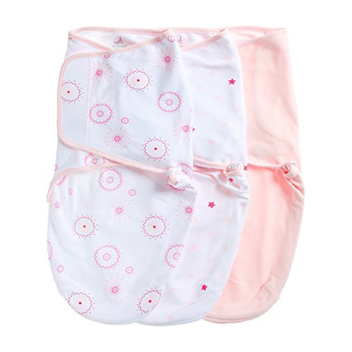 Aden by Aden + Anais Swaddle Wearable Baby Wrap, 100% Cotton, 3 Pack, Summer Solstice