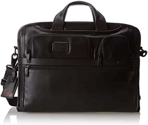 Tumi Unisex Alpha 2 - Compact Large Screen Laptop Leather Brief