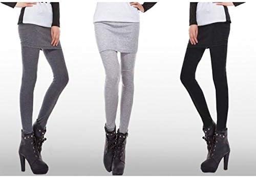 Leggings con falda&pantalón (leggings) - NEGRO: Amazon.es ...