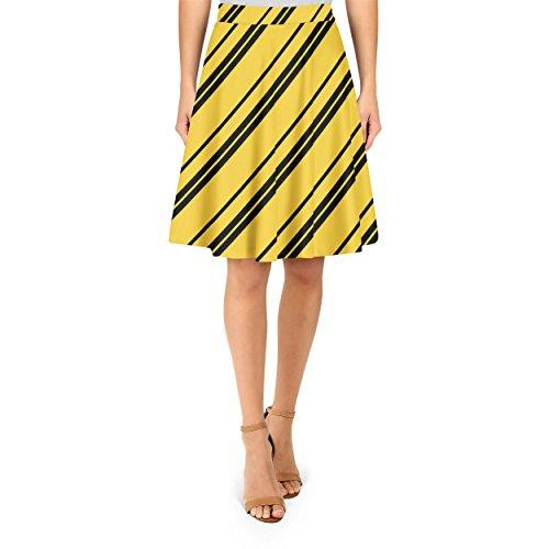 Hufflepuff House Stripes A-Line Skirt Rock XS-3XL