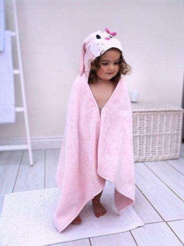- Bathing Bunnies Bunny Baby Toddler Hooded Towel Pink
