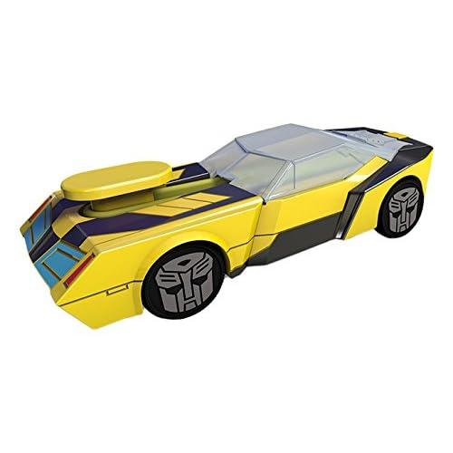 Smoby Majorette - 213112001 - Transformers - Véhicule Mécanique Pull Back - Bracelet Inclus - 11 cm