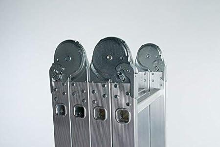 WORHAN/® MEHRZWECKLEITER ANLEGELEITER STEHLEITER 460cm AUS ALUMINIUM LEITER 4,6m KS4.6