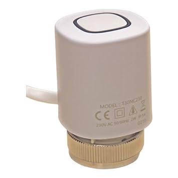 Salus protección actuador T30NC230 para calefacción por suelo radiante: Amazon.es: Hogar