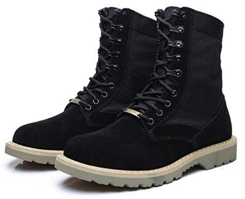 Neue Männer Martin Stiefel Outdoor Große Größe High-Help-Schuhe Größe 38-44 black