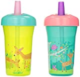 The First Years Simple Straw Cup - 9oz - 2 pack - Green Deer
