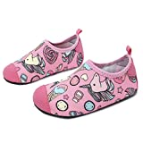 JOINFREE Little Girls Cute Candy Unicorn Swim Water Shoes Socks Light Beach Shoes Quick Dry Pool Shoes, 28-29 EU(Size: 10.5-11 UK Child)