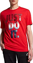 Nike Mens Sportswear Just Do It Usa Graphic T-shirt, (University Redblack, S)