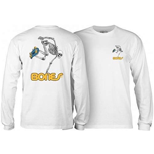 Powell-Peralta Skateboard Long Sleeve Shirt Skateboard Skeleton White Size XL