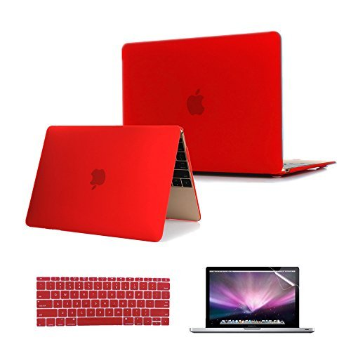 - Se7enline MacBook 12 inch Case 2015-2018 Laptop Hard Shell Protective Cover Case for MacBook 12-Inch Model A1534 with Retina Display, Silicone Keyboard Cover+ LCD Screen Protector, Red