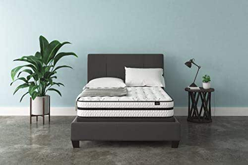 Signature Design by Ashley - 10 Inch Chime Express Hybrid Innerspring - Firm Mattress - Bed in a Box - Full - White