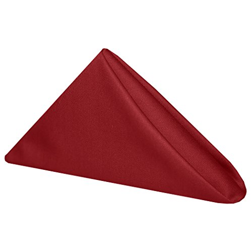 Ultimate Textile (10 Dozen) Poly-cotton Twill 20 x 20-Inch Cloth Dinner Napkins - for Restaurant and Catering, Hotel or Home Dining use, Christmas Red by Ultimate Textile