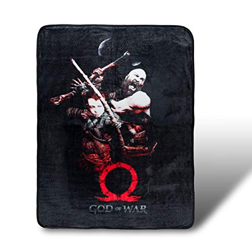 JUST FUNKY Kratos and Son God of War Fleece Blanket | 45 x 60 Inches ()
