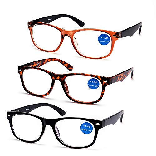 ef0f25251d Surprising good quality   Design! Viscare® 3 Pack Men Women Unisex Wayfarer  Designer Reading