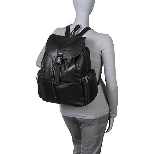 Amazon.com | AmeriLeather Jumbo Leather Backpack (Black) | Casual ...