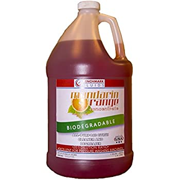 Benchmark Fluids Mandarin Orange Concentrate 1 gal All Purpose Citrus Cleaner and Degreaser Concentrate