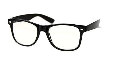 new stylish sunglasses  Amazon.com: WAYFARER SUNGLASSES Black CLEAR LENS Stylish NEW: Shoes