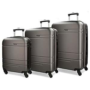 Movom Matrix Juegos de maletas, 79 cm, 221 litros, Gris