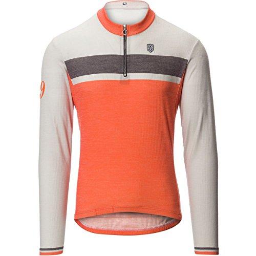 Giordana Sport Merino Wool Blend Long-Sleeve Jersey - Men's Beige/Orange Grey Accents, XL