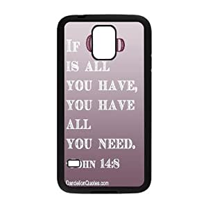 DIY Phone Case for SamSung Galaxy S5 I9600, John Quotations Cover Case - HL-700522