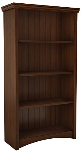 Bookcase Cherry Cabinet Traditional (South Shore 7356767 4-Shelf Storage Bookcase, Sumptuous Cherry)