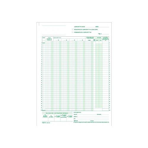 Registro Dei Corrispettivi Prima Nota 2 Copie Autoricalcanti A4 Cancelleria NickOffice NikOffice