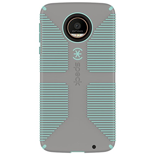 - Speck CandyShell Grip Series Hardshell Case for Moto Z Droid - Gray/Light Green (Certified Refurbished)
