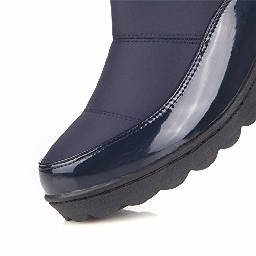Winter Boots MOBAI Boot Pull Warm Women's Boots Over High On Long Snow Knee Blue Flats fqRABx