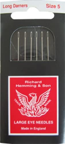 Made in England Richard Hemming Needles Darners Size 9