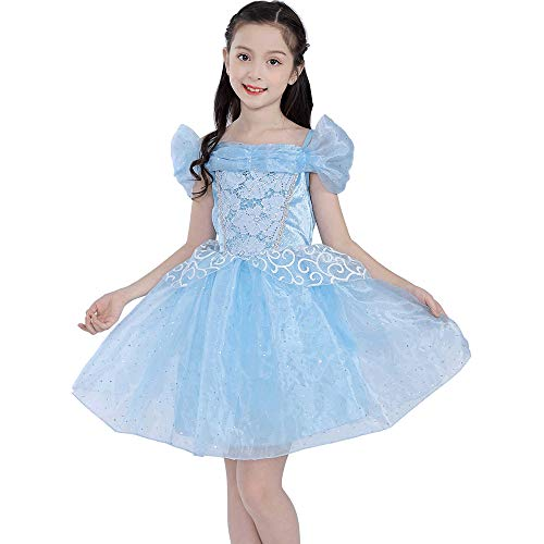SIZANI Princess Cinderella Costume Queen Dress Up Party Cosplay Outfit for Kids Girls 12months/2T/3T/4T/5/6