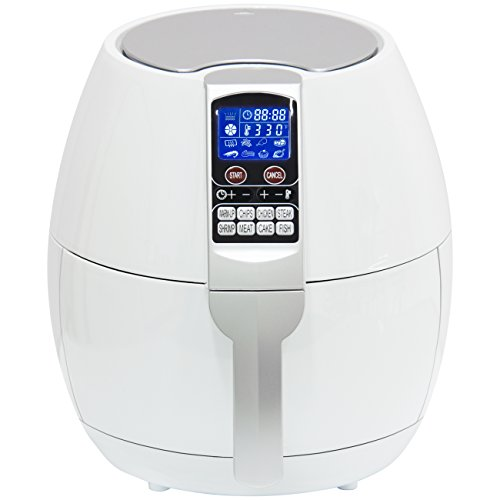 Best Choice Products 3.7qt Non-stick Electric Air Fryer Cooking Appliance for Home, Kitchen w/ 8 Cooking Presets, Temperature Control, Timer, Digital LED Screen Display – White