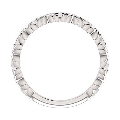 0.33 ct Ladies Round Cut Diamond Anniversary Band in Platinum