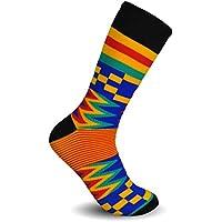 Gamuza de Kente calcetines para vestido o Casual novedad