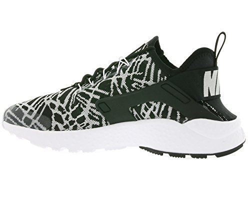 Nike W Air Huarache Run Ultra Kjcrd, Chaussures de Sport Femme Blanc Cassé - Blanco (Black / White)