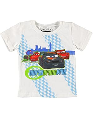 Disney Cars Lightning McQueen World Grand Prix Graphic T-Shirt