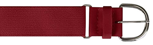 Champro Elastic Baseball Belt with 1.5-Inch Synthetic Tab (Cardinal, - Belt Baseball Cardinal