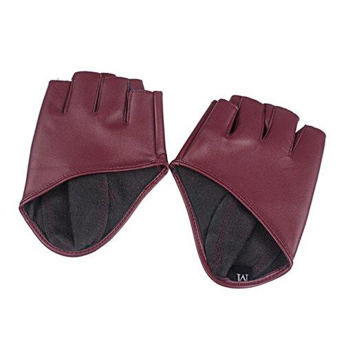 Broadfashion Gants en cuir de type mitaine pour femme - Rose  Amazon.fr   Sports et Loisirs a1864ac5963