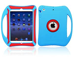 Go Cell Kids Lightweight Drop-Proof Protective Case with Handle for iPad Mini & iPad Mini Retina Display (Blue/Red)