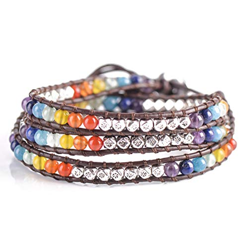 YGLINE Women Handmade Boho 3 Wrap Friendship Bead Bracelet, Boot Strap, Choker Jewelry Collection ...