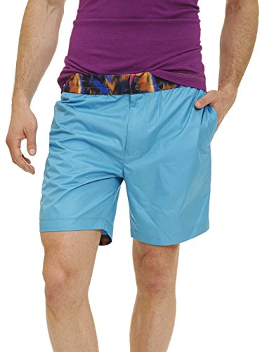 Robert Graham Men's Contrast Print Waist Band Woven Swim Trunk by Robert Graham